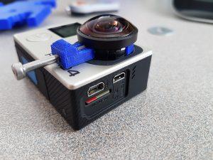 GoPro lens holder for hacked cameras