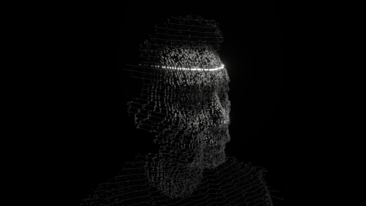 Depthkit face-scanning efect